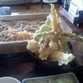 Photos: 昨日食べた鶴岡は草介の天丼セット。天ぷらの盛りがスゴい!