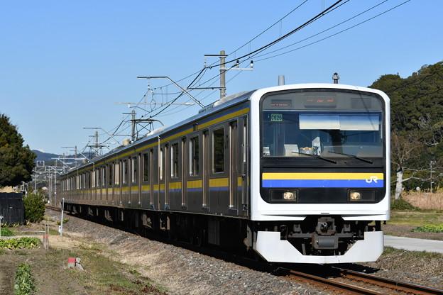 内房線普通列車 2186M (D500編)