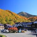 Photos: 黄紅葉と酸ヶ湯温泉