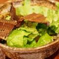 写真: 太刀魚骨から揚げサラダ小鉢
