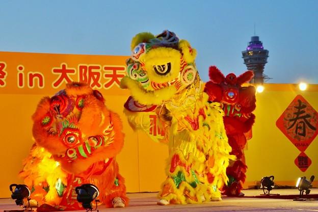 春節祭獅子舞