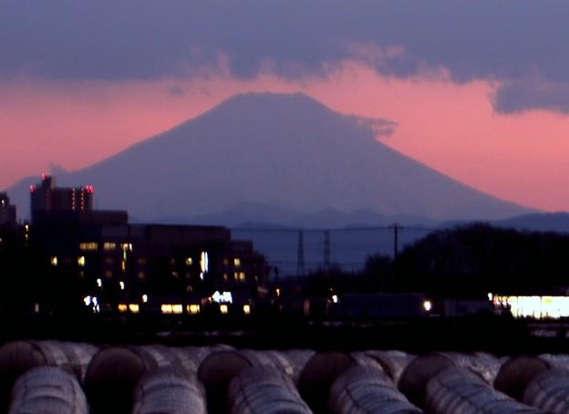 小焼けの富士山