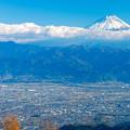 甘利山より富士を望む