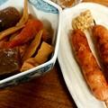 Photos: 加賀屋満席だったんで、先にまるかや。 煮物と腸詰。