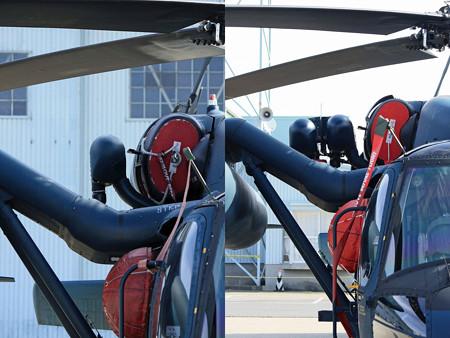 UH-60J 新旧比較してみた?2重化された救助ホイスト IMG_2991+2994