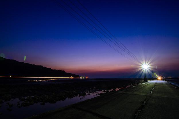 海床路の夜景