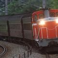 回9512レ DD16 11+旧型客車 3両