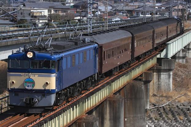 9135レ EF60 19+旧型客車 4両+D51 498