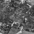 写真: 火災から一夜明けた「加賀の井酒造」付近