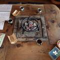 写真: 私たちが座った囲炉裏