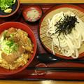 実演手打ちうどん 杵屋 かつ丼定食 katsudon 広島市中区基町 アクアセンター街