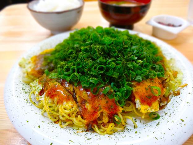 広島おこのみ 加賀屋 Hiroshima okonomiyaki Kagaya 平日ランチ 肉玉そば 広島南区的場町1丁目