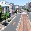 Photos: 皆実陸橋から広島電鉄 皆実線 比治山線 国道487号 終点手前