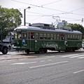 広島電鉄 570形 582号 神戸市電 500形 592号 広島市南区的場町2丁目 大正橋交差点
