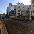 広島電鉄 猿猴橋町電停から広島駅方向 広島市南区猿猴橋町