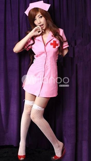 看護婦コスチューム セクシーランジェリー ベビードール
