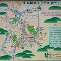 写真: 明日香観光エリアマップ(飛鳥寺門前の看板)