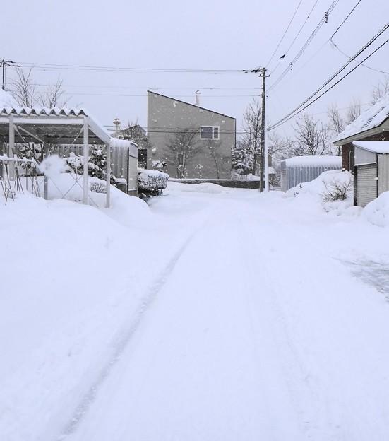 写真: 自宅周辺の道路