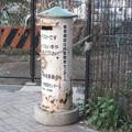 山陽本線姫路駅近くの内々環状西線沿い高架下の、かつて地下道東にあったらしい白ポスト、向かって右。(2015年)