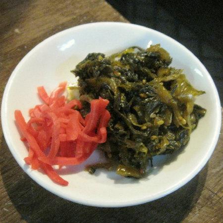 高菜と生姜