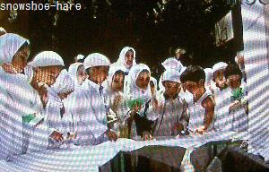 子供達の石投げの練習@カイロ