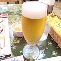 写真: 3時間半の【格闘】終えて、ランチビール@インド料理店。…なんか毎日...