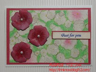 赤い花のカード