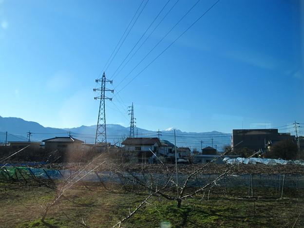 写真: 特急あずさ3号から富士山1