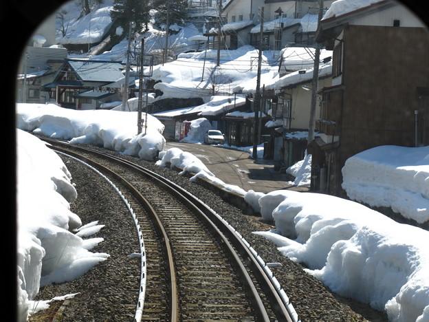 写真: 大糸線キハ52-156後方車窓4