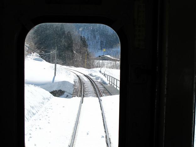 写真: 大糸線キハ52-156後方車窓13