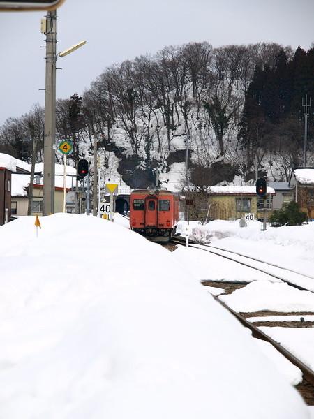 写真: 大糸線キハ52-156(根知駅)