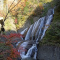写真: 紅葉と滝