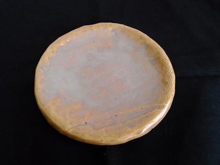 茶流紋釉小皿s