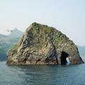 写真: 象岩の穴吹き抜くや春の風 Elephant Rock