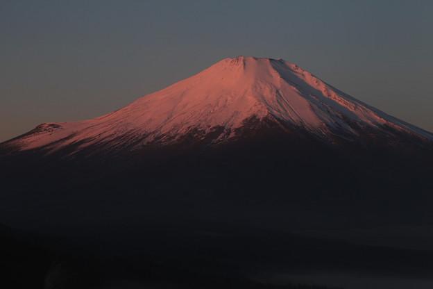 染まる富士山