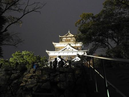広島城ライトアップ08