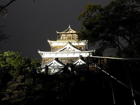 広島城ライトアップ09
