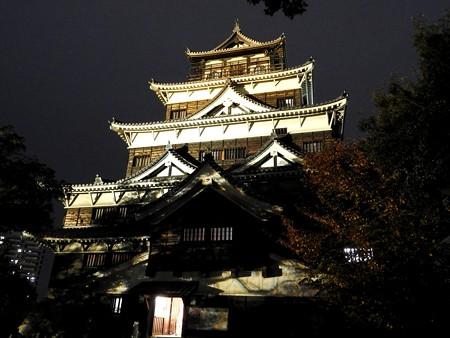 広島城ライトアップ15
