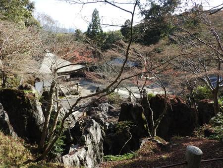 石山寺57 経蔵から見た珪灰石