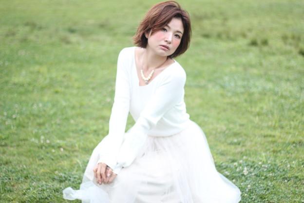 草原の美女