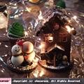 お菓子の雪だるまとお菓子の家とブラウニーの石畳