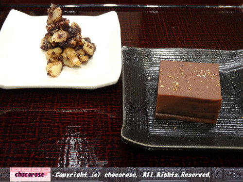 Photos: カカオ味噌とチョコレート羊羹