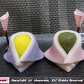 写真: おびなとめびなの和菓子