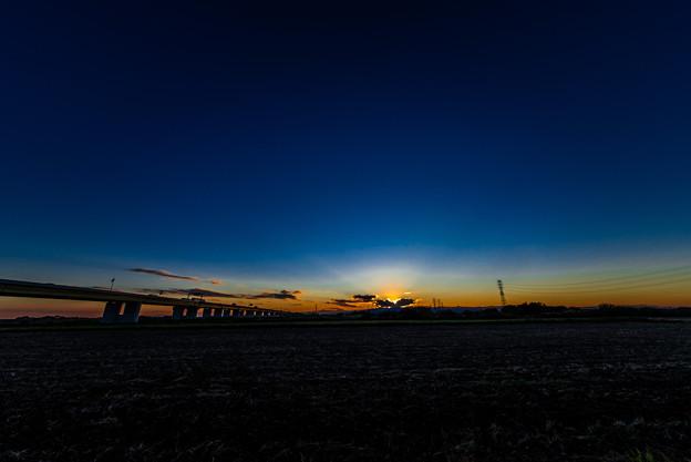 圏央道と夕焼け@桶川