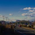写真: 国道50号からの岩舟山@栃木