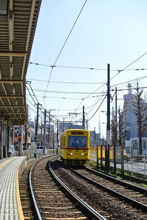 熊野前駅より