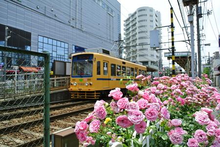 町屋駅前駅にて