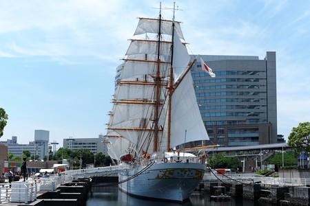 2015.05.17 みなとみらい 日本丸 総帆展帆