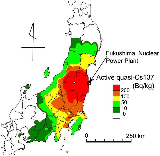 写真: 2016.06 ネイチャーが公表した日本の放射能汚染