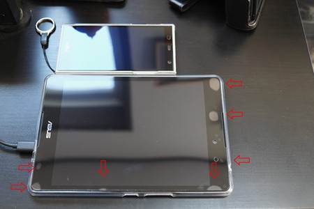 2016.11.07 ZenPad 3 8.0 ガラスフィルム気泡